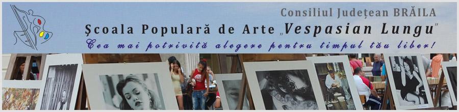 Scoala Populara de Arte Vespasian Lungu Logo