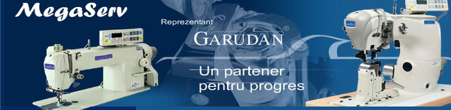 Mega Serv Bucuresti - Comercializare si service masini de cusut Garudan Logo