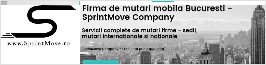 Mutari Mobila Bucuresti cu Firma de mutari SprintMove Company Logo