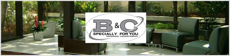 B&C Professional Cleaning Company Logo