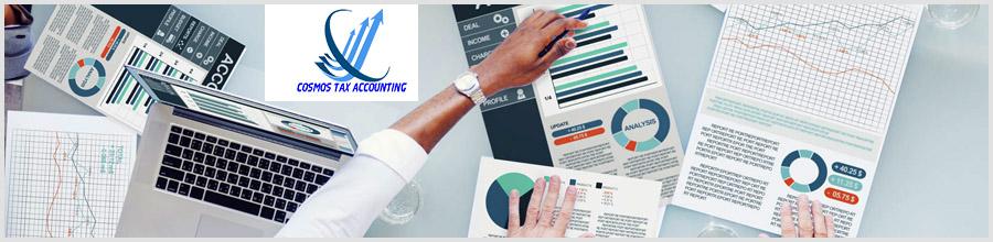 COSMOS TAX ACCOUNTING Contabilitate si consultanta financiara Logo