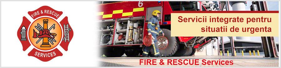 FIRE&RESCUE Services sisteme integrate pentru situatii de urgenta Bucuresti Logo