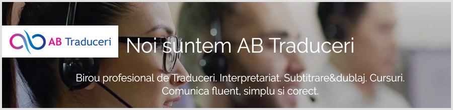 AB Traduceri Traduceri si interpretariat in orice domeniu Bucuresti Logo