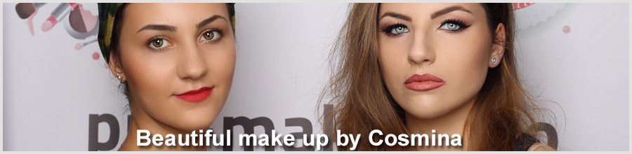 Beautiful make up by Cosmina Logo