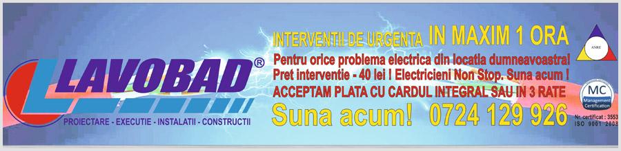 Lavobad - Reparatii electrice Bucuresti InterventiiRapide.ro Logo