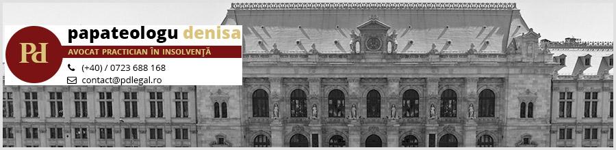 Cabinet de avocatura Bucuresti PAPATEOLOGU Denisa Logo