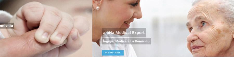 ALPHA MEDICAL EXPERT ingrijiri medicale la domiciliu Bucuresti Logo