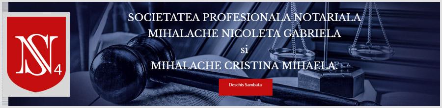 Birou Notari Asociati Mihalache Nicoleta Gabriela si Mihalache Cristina Mihaela Bucuresti Logo