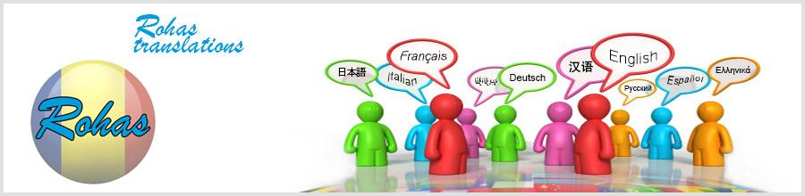 Birou traduceri Rohas Translations Bucuresti Logo