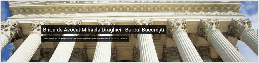 Cabinet Avocat Mihaela Draghici Bucuresti Logo