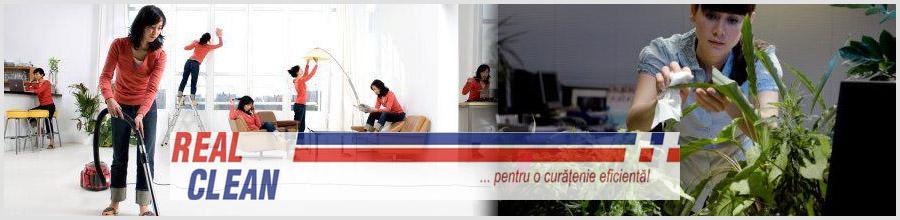 Real Clean curatenie Bucuresti Logo
