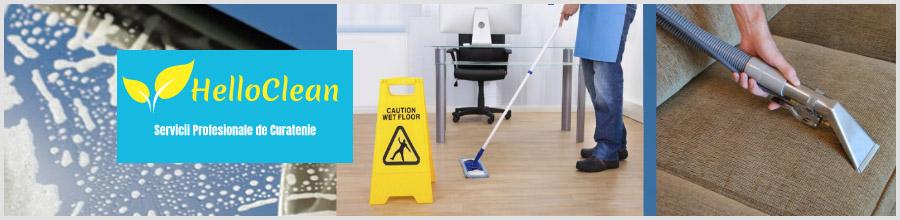 Hello Clean servicii curatenie Bucuresti Logo