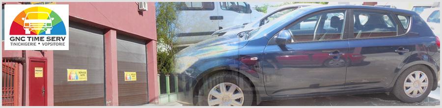 GNC TIME SERV tinichigerie-vopsitorie auto Voluntari Logo