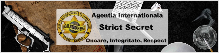 Agentia Internationala de Investigatii Strict Secret Bucuresti Logo