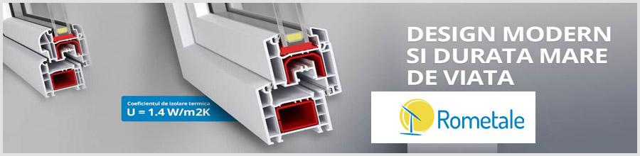 Rometale - Comercializare, montaj si reparatii tamplarie PVC, Bucuresti Logo