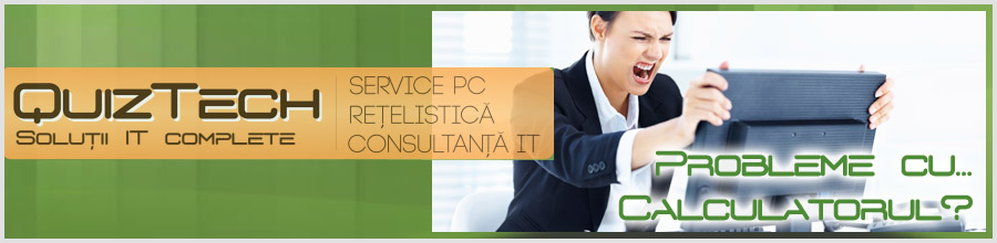 QuizTech Solutions service calculatoare Pipera Logo