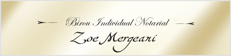 Birou Individual Notarial Zoe Mergeani Logo