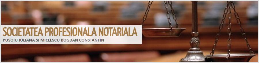 Societate Profesionala Notariala Pusoiu Iuliana si Miclescu Bogdan Constantin Logo