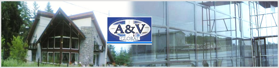 A&V GLOBAL COM Bucuresti - Tamplarie din aluminiu si PVC Logo