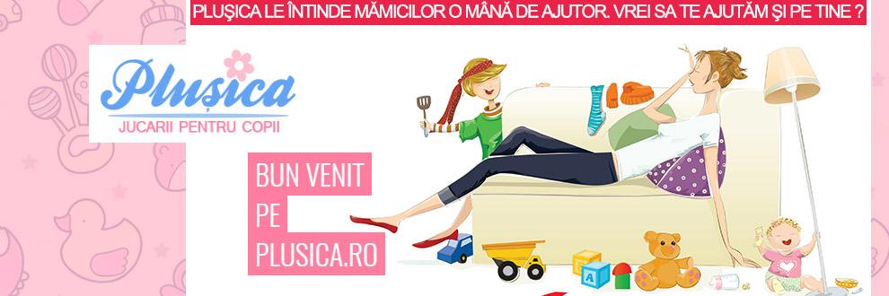 Plusica.ro - Jucarii pentru copii Logo