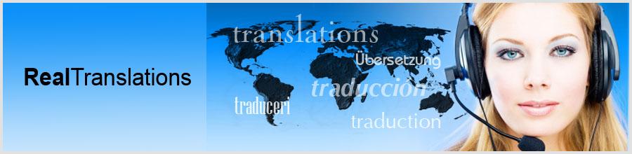 AGENTIA DE TRADUCERI REAL TRANSLATIONS Logo