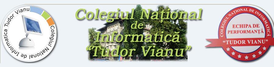 COLEGIUL NATIONAL DE INFORMATICA TUDOR VIANU Logo