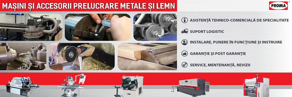 PROMA MACHINERY masini prelucrare metal, lemn Logo