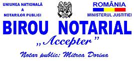 Birou Notarial ACCEPTER - MITREA DORINA Logo