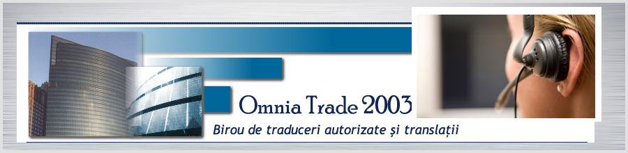 BIROU TRADUCERI OMNIA TRADE 2003 Bucuresti Logo