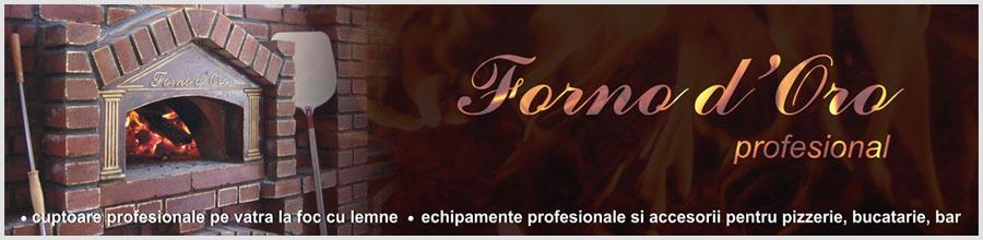 FORNO D'ORO - Cuptoare profesionale pe vatra la foc cu lemne, echipamente profesionale si accesorii pentru pizzerie, bucatarie, bar Logo
