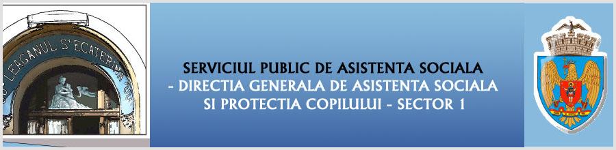 SERVICIUL PUBLIC DE ASISTENTA SOCIALA - DIRECTIA GENERALA DE ASISTENTA SOCIALA SI PROTECTIA COPILULUI - SECTOR 1 Logo