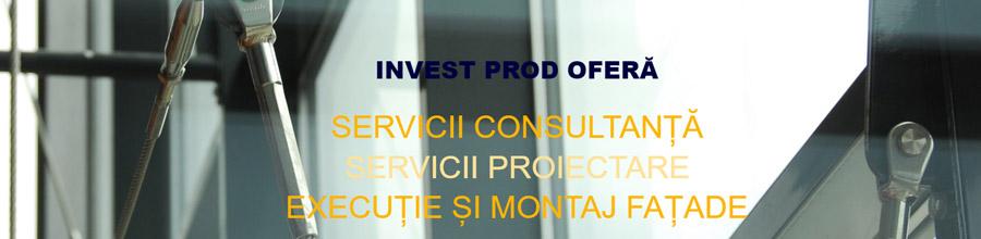 Invest Prod, Pantelimon / Ilfov - Placari fatade cu aluminiu Logo