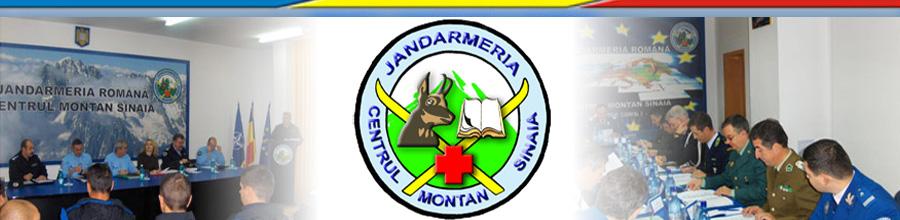 Centrul de Perfectionare a Pregatirii Cadrelor Jandarmi Montan Sinai Logo