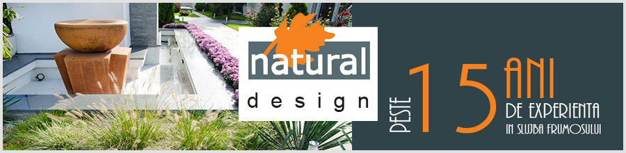 Natural Design amenajari gradini si spatii verzi in Bucuresti si in tara Logo