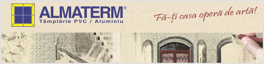 ALMATERM tamplarie PVC, aluminiu Constanta Logo