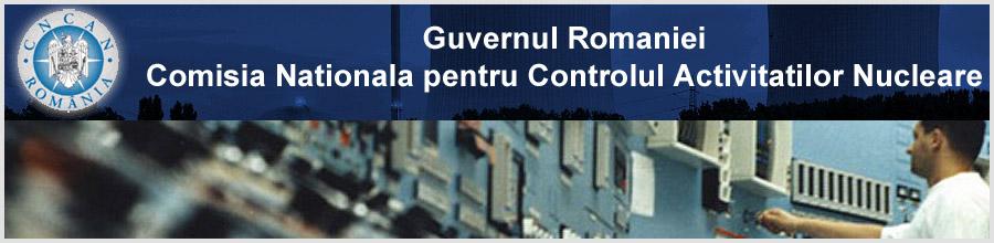 COMISIA NATIONALA PENTRU CONTROLUL ACTIVITATILOR NUCLEARE (CNCAN) Logo