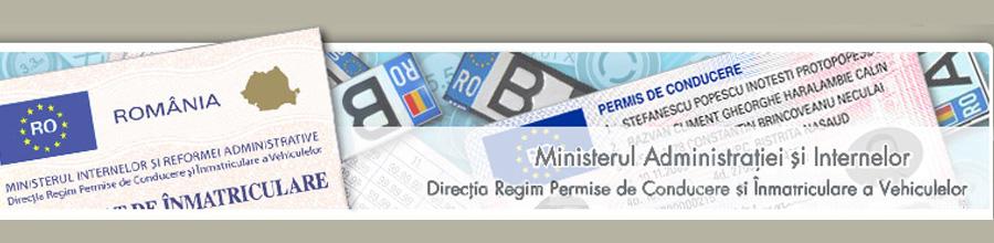 DIRECTIA REGIM PERMISE DE CONDUCERE SI INMATRICULARE A VEHICULELOR Logo