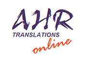 AHR TRANSLATIONS Logo
