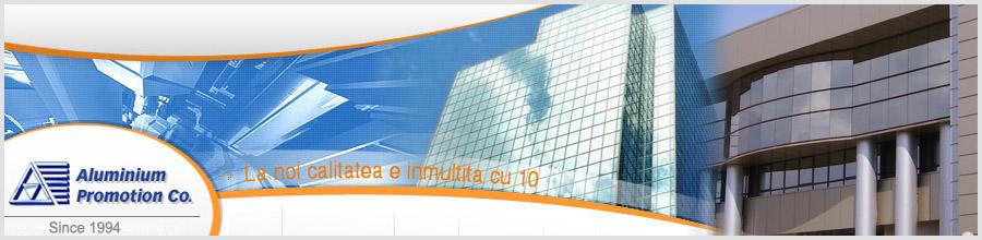 Aluminium Promotion Co, Magurele / Ilfov - Tamplarie din aluminium, pereti cortina Logo