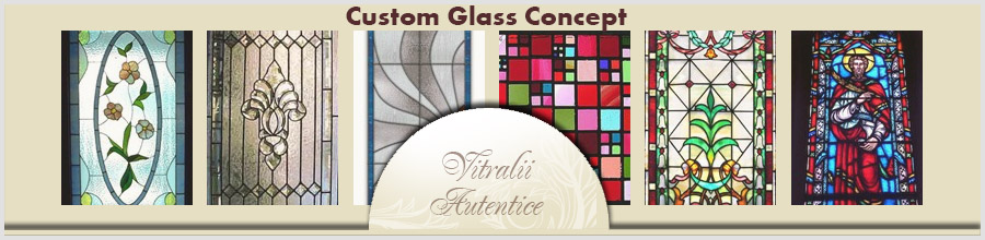 Custom Glass Concept Logo