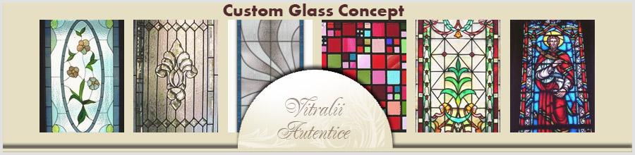 Custom Glass Concept- Sticla colorata, sablata, decorativa, vitralii, lampi, Bucuresti Logo