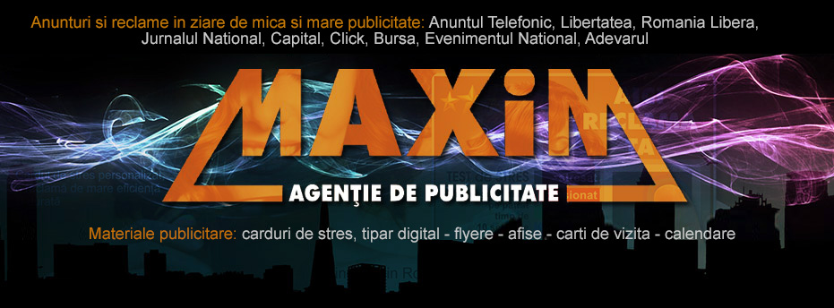 AGENTIA MAXIM - publicitate si promotionale Logo