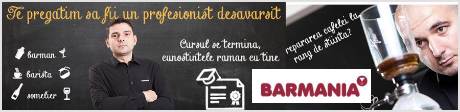 BARMANIA Bucuresti - Cursuri de barmani, barista si somelier Logo