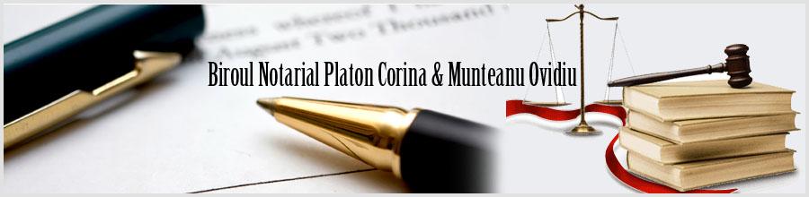 Biroul Notarilor Publici PLATON CORINA, MUNTEANU OVIDIU Logo