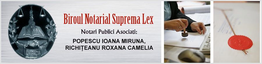 Biroul Notarilor Publici SUPREMA LEX - NOTARI PUBLICI PUSCATU ION LEONARD-MIRUNA POPESCU Logo
