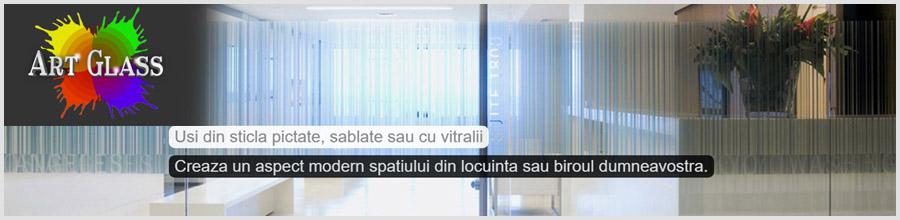 Art Glass Denisa 2000 / Ilfov - Usi,balustrade, placari, pardoseli si pereti din sticla Logo