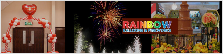 RAINBOW BALLOONS & FIREWORKS decoratiuni pentru evenimente festive Constanta Logo