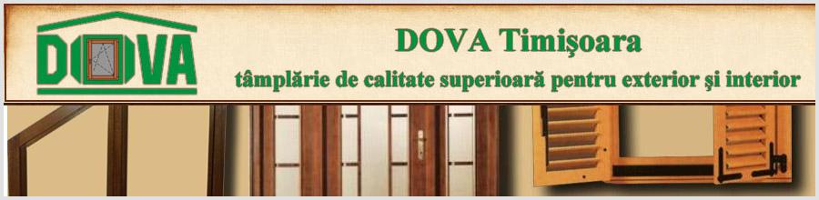 DOVA - Ferestre si usi din lemn stratificat, Timisoara Logo
