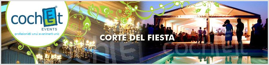 CORTE DEL FIESTA - COCHET EVENTS Logo