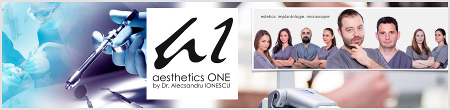Aesthetics One centru de excelenta specializat in stomatologie minim invaziva Bucuresti Logo